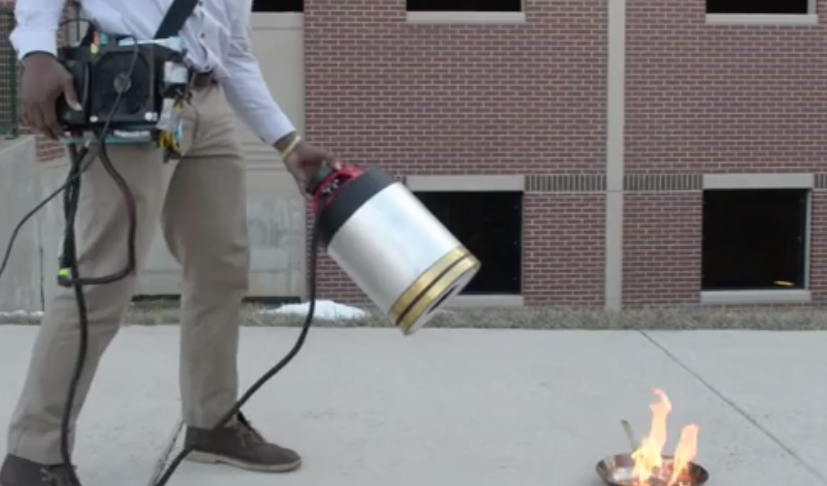 Watch Sound Extinguish a Fire